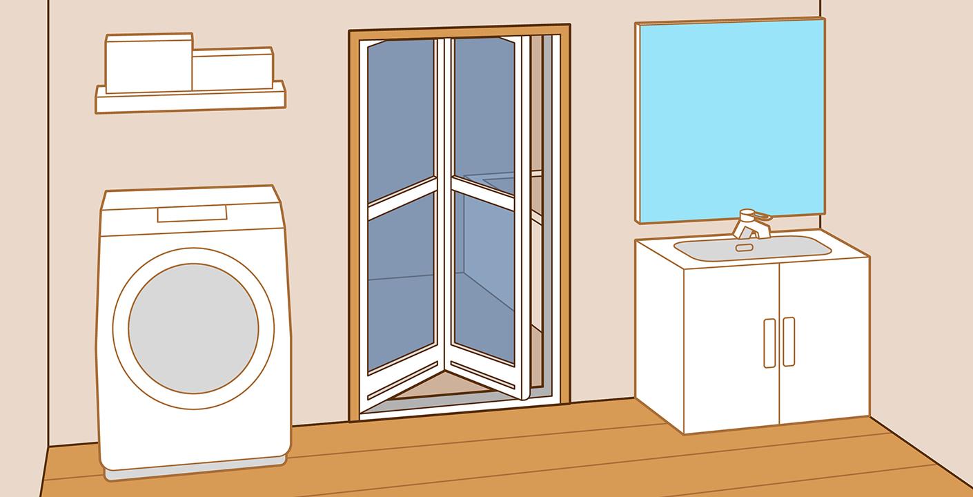 浴室折れ戸の取替え